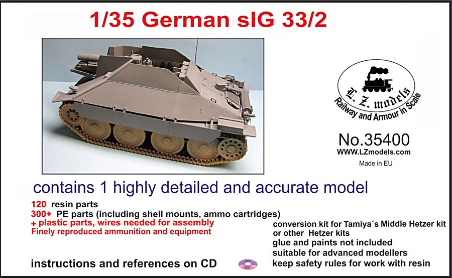 1/35 detailed plastic and resin model kits and accessories